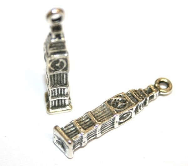 10pcs x 25mm Antique silver plated London Big Ben's clock tower charm - S.F03 - WA200 - 1411057